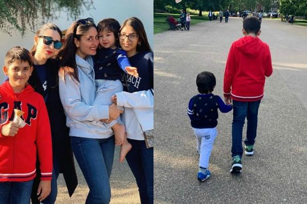 taimur ali khan enjoy holiday with mom kareena kapoor and massi karisma kapoor
