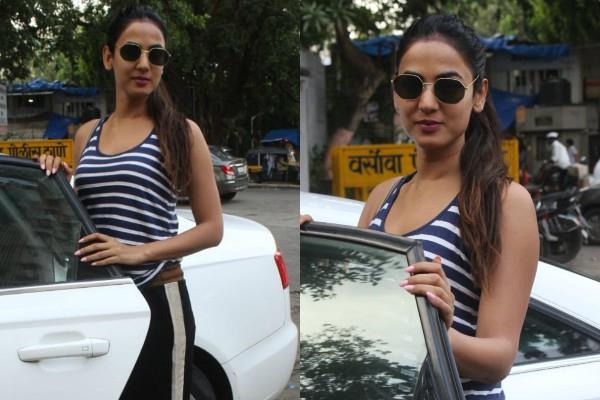 sonal chauhan spotted outside the salon