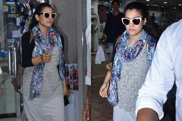 kajol spotted at store juhu