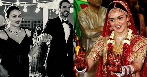 esha deol share a picture with husband on weddinge anniversary