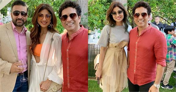 shilpa shetty raj kundra london vacation with sachin tendulkar in england