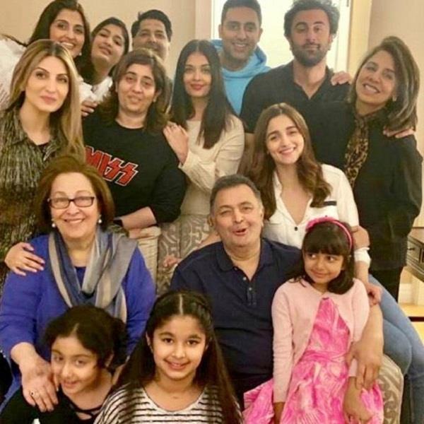 aishwarya abhishek alia ranbir kapoor meets rishi kapoor at new york