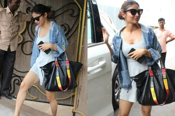 mouni roy spotted outside the salon