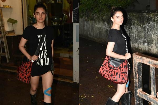 aditi rao hydari spotted outside the saloon