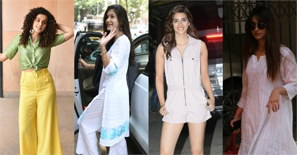kriti sanon taapsee pannu and many beauties spotted at b town