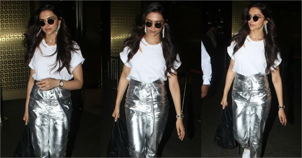deepika padukone spotted at airport