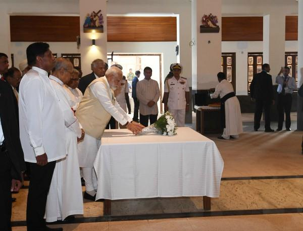 pm modi arrives in sri lanka