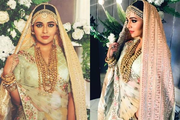 mansi srivastava looks gorgeous in bridal look