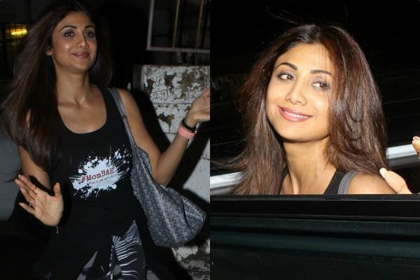 shilpa shetty spotted at salon