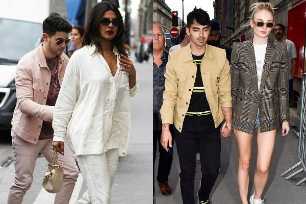 priyanka chopra nick jonas sophie turner joe jonas lunch date in paris