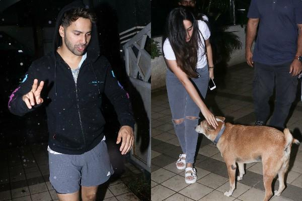 varun dhawan spotted outside david dhawan office with natasha dalal