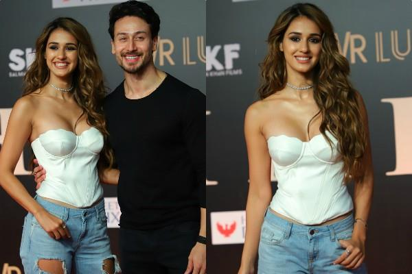 disha patani with tiger shroff at bharat premiere