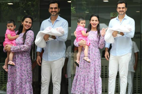 esha deol bharat taktani with new born baby girl pictures