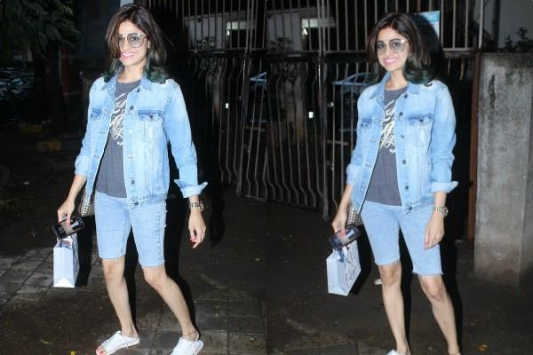 shamita shetty spotted at bandra