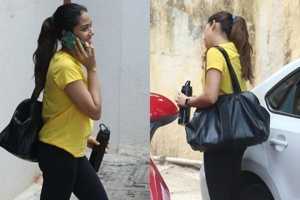 mira rajput spotted outside the gym