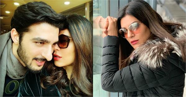 rohman shawl sweet response on sushmita sen latest pictures
