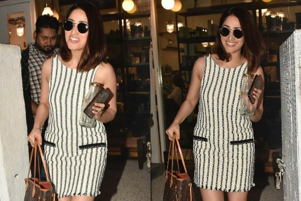 yami gautam spotted outside saloon