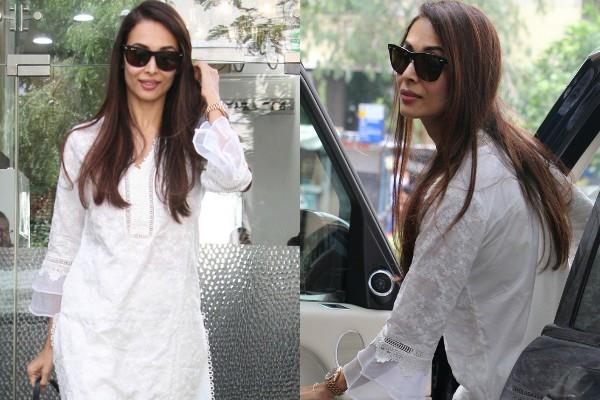 malaika arora spotted at salon
