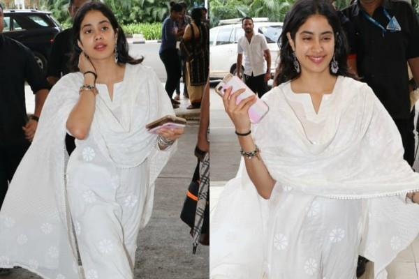 janhvi kapoor spotted at airport