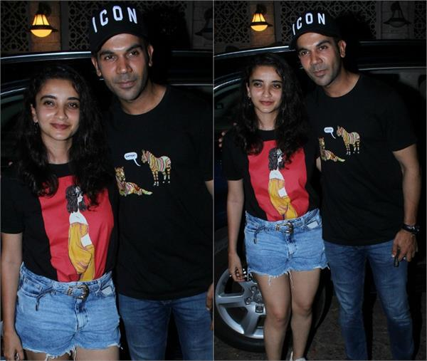 rajkummar rao spotted with girlfriend