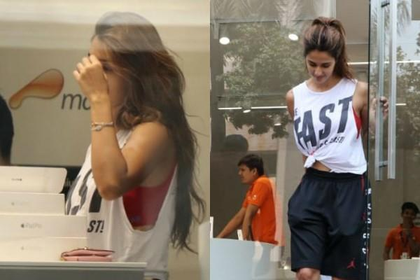 disha patani spotted outside the maple store