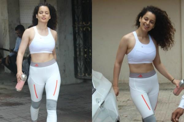 kangana ranaut spotted at outside the gym