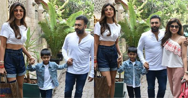 shilpa shetty lunch date with family