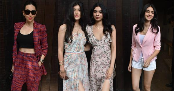 kapoor sisters at sonam kapoor birthday party