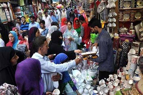 eid celebrations and market full bloom in kashmir