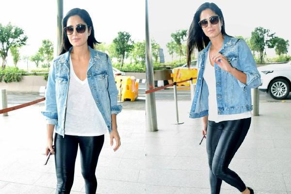 katrina kaif spotted at airport