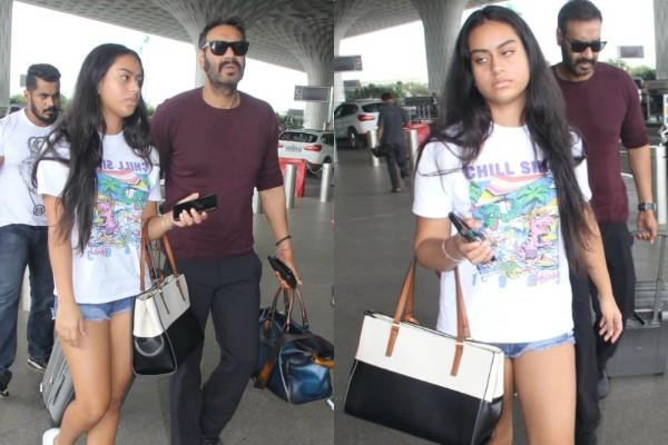 ajay devgn spotted at airport