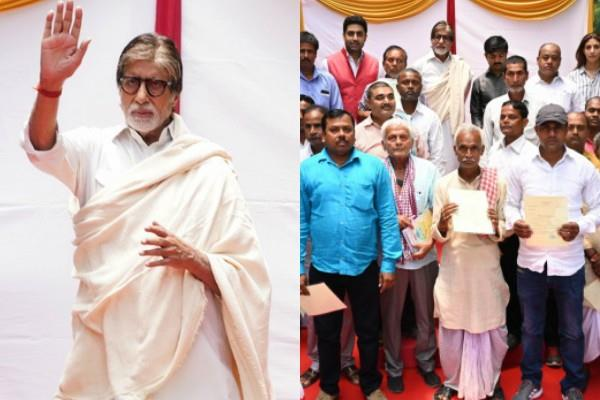 amitabh bachchan pays off loans of 2 100 farmers