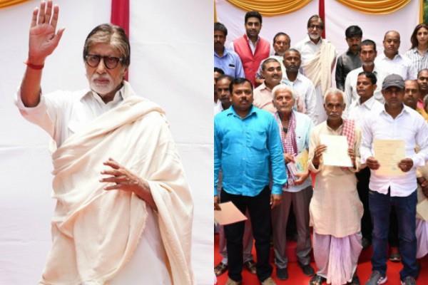 amitabh bachchan pays off loans of 2 100 farmers