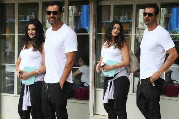 arjun rampal spotted with girlfriend gabriella demetriades