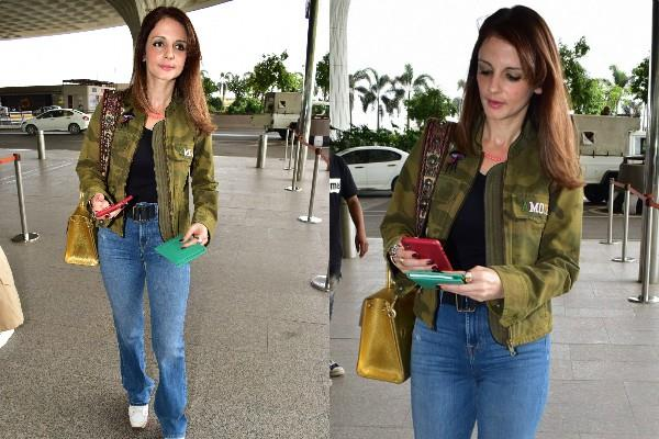 sussanne khan spotted at airport
