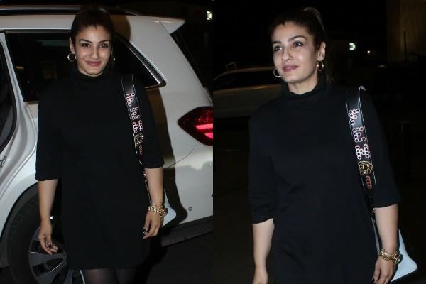 raveena tandon spotted at airport