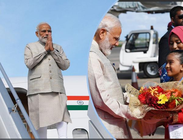 narendra modi reaches maldives on his first foreign trip after becoming pm