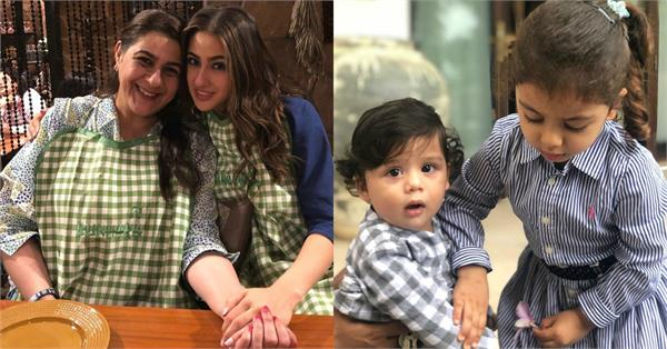 sara ali khan celebrate eid with mom amrita singh