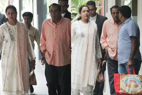 dharmendra hema malini reached hospital