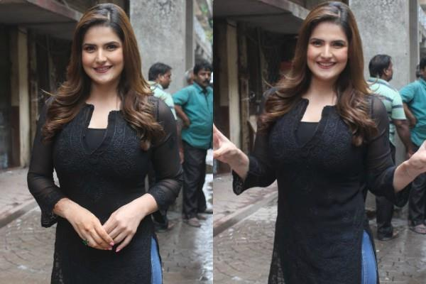 zareen khan spotted in the city