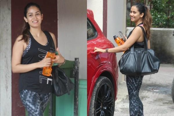 mira rajput spotted outside gym