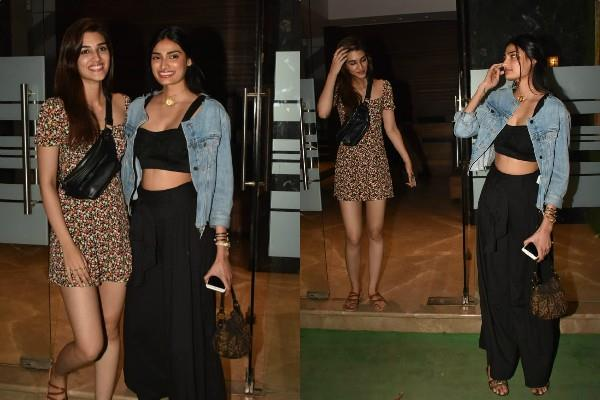 athiya shetty and kriti sanon at party