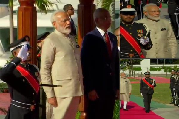 pm modi arrives in maldives will start the round of meetings