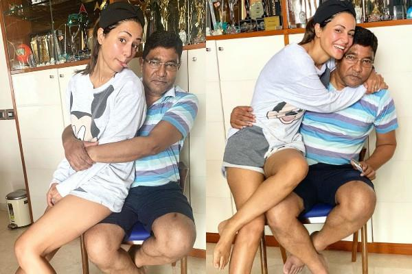 hina khan wished their father on social media