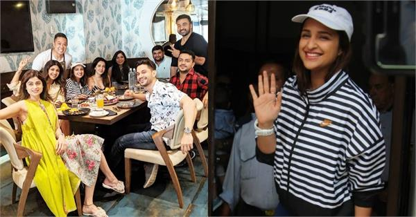 parineeti chopra lunch date with shilpa shetty shamita shetty