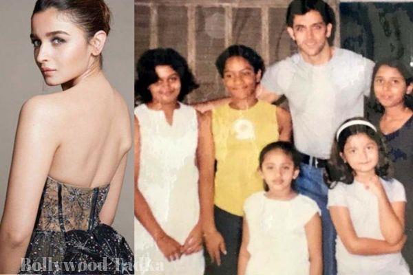 hrithik roshan and alia bhatt childhood pics viral