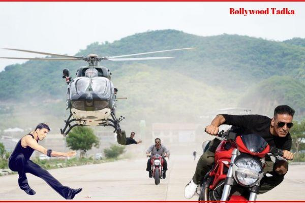 akshay kumar new movie sooryavanshi stunt pics and video viral
