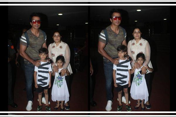 sonu sood spot with his family in mumbai