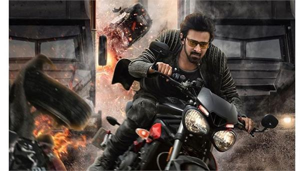 action packed poster release of prabhas starrer film saaho