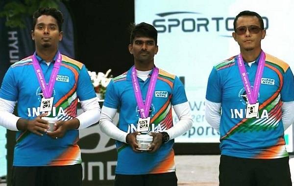 indian men s recurve team won silver in world championship